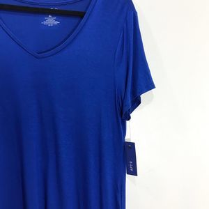 Apt. 9 Tops - Apt. 9 Blue V-Neck T-Shirt NWT